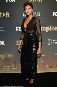 Dazzling diva! Tariji P Henson oozed sex appeal Saturday in New York, where she donned a sheer top and sequined maxi skirt to celebrate the new season of Empire