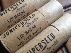Winter Mint Lip Balm  Compostable Plastic Free by JuniperseedMerc, $10.50 (Tammy's birthday)