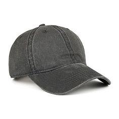 VANCIC Low Profile Washed Brushed Twill Cotton Adjustable Baseball Cap Dad  Hat for Men Women (Dark Grey). BerraBrand · caps b9c3666f88b9