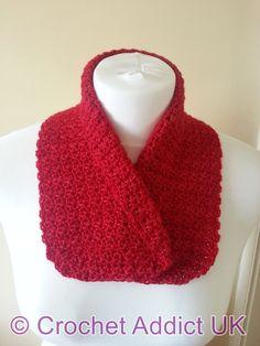 Collared Cowl ~ Free Pattern ~ Crochet Addict UK