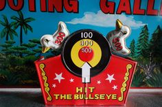 Marx Toys Wind Up Tin Litho Shooting Gallery  1960s by EmporioX