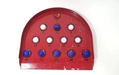 Vintage RED Marble Tabletop Game with by UrbanRenewalDesigns, $22.00