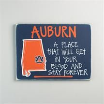 Glory Haus Auburn Map Sign Officially Licensed auburnloveitshowit.com