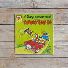 New in The Book Cottage: Vehicles Kids Book Vintage  Disney Discovery Series Things That Go  Story with Mickey and Donald  Lime Green Theme  Mickey Mouse Story by TheBookCottage