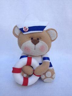 Urso marinheiro feltro