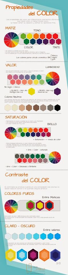 Teoría del Color en: DISEÑO DE INTERIORES #Infografía #Diseño #Colores: