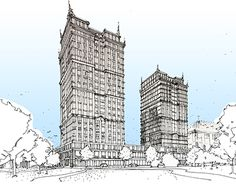 """Check out new work on my @Behance portfolio: """"The sketch for the Moscow architectural Bureau"""" http://be.net/gallery/54231303/The-sketch-for-the-Moscow-architectural-Bureau"""