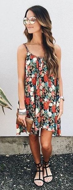 Floral Swing Dress                                                                             Source