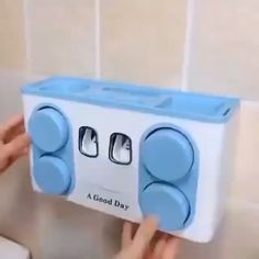 Toothpaste dispenser home decor bathroom What a cool bathroom storage and toothpaste dispenser to have in a bathroom, shared by