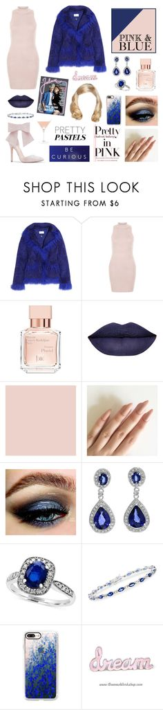 """Pastel Pink & Royal Blue"" by amber-the-stylist ❤ liked on Polyvore featuring Saks Potts, New Look, Chloé, Maison Francis Kurkdjian, Effy Jewelry, Ross-Simons, Casetify and Baldwin"