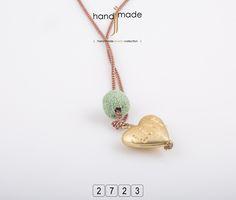 Κολιέ με μακρυά αλυσίδα , μπάλα λάβα και χρυσή καρδιά. Women's Necklaces, Handmade Jewelry, Pendant Necklace, Necklaces For Women, Handmade Jewellery, Jewellery Making, Diy Jewelry, Drop Necklace, Craft Jewelry