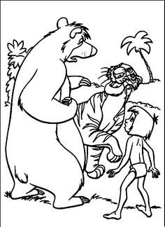 Discover This Amazing Coloring Page Of The Jungle Book Movie A Drawing For All Disney Lover