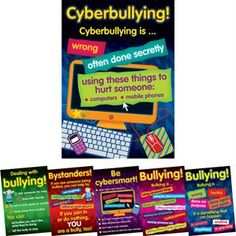 Bullying In The Cyber World Poster Set - Grades 2-5