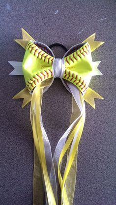 Look @Anna Totten Totten Totten jeric softball Hair Ponytail BOW by 360Softball on Etsy, $15.00