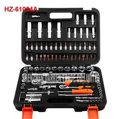 143.05$  Watch now - http://ali6ov.worldwells.pw/go.php?t=32782010690 - 2pcs HZ-61094A auto repair tools ratchet wrench spanner set hand tools combination of tools Automobile socket wrench set 143.05$