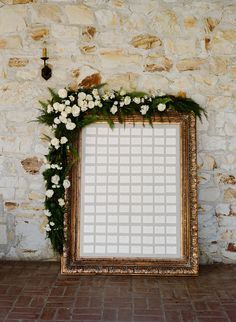 Yonder Design | Escort Display, Escort Cards, Linen Board, Pin Board, Wedding Design, Gold Frame, Holman Ranch Wedding, Simone Lennon Events, Wedding Inspiration, Romantic Wedding, Unique