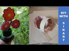 DIY Flori decorative din bete de bambus/Decorative flowers from bamboo sticks - How to make Give It To Me, How To Make, Easy Projects, Hello Everyone, Flower Decorations, Sticks, Embellishments, Make It Yourself, Animal