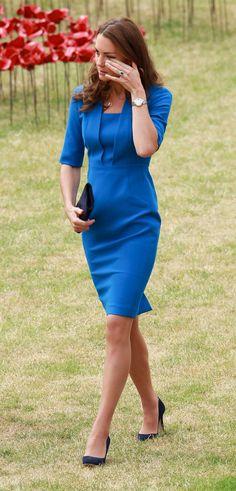 Kate Middleton Tr Gt Am Valentinstag Blau Kate Middleton Cambridge And Popsugar