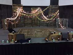 Rustic stage