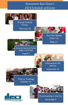 Downtown Eau Claire, Wisconsin | Downtown Eau Claire's 2014 Schedule of Events