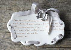 Ring Bearer Tray $48 shevongantceramics.com    #handmadeWedding #weddingdecor #wedding