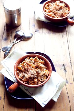 Migas {Calabaza y manzana} Chili, Soup, Natural, Blog, Recipes With Vegetables, Breakfast, Deserts, Pumpkins, Chile