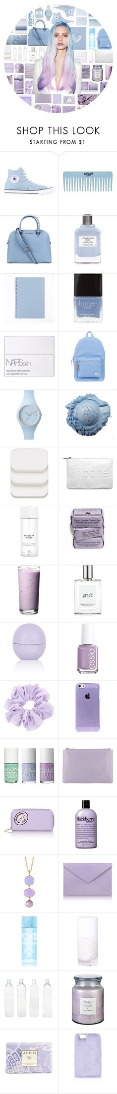 """Ombre Hair"" by stelbell ❤ liked on Polyvore featuring Converse, Michael Kors, Givenchy, Butter London, NARS Cosmetics, Herschel Supply Co., Ice-Watch, COVERGIRL, Miss Selfridge and H&M"