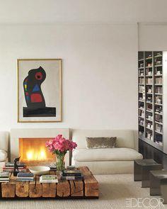 designer daniel romualdez. photo by michael mundy for elle decor / Living room  / interior design & decor / creams & beiges