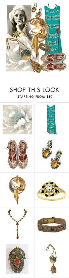 """Gatsby Land"" by glamourgrammy ❤ liked on Polyvore featuring Kenneth Jay Lane, greatgatsby and artdeco"