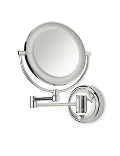 Battery operated lit extendable mirror