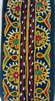 Gujarati mirror embroidery on cloth by Mugdha's Ethnic/Tribal