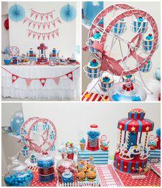 Circus + Carnival themed birthday party via Kara's Party Ideas…