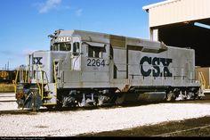 CSX GP30 Slug # 2264 Old Trains, Vintage Trains, Csx Transportation, Florida East Coast, Railroad Companies, Southern Railways, Norfolk Southern, Pennsylvania Railroad, Railroad Photography