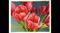 Watercolor Process: Tulips