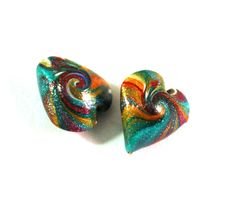 Handmade Polymer Clay Beads, Polymer Clay Beads for Sale, Jewelry Making Supplies, Earring Pair