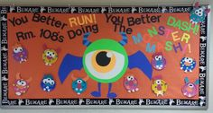We_Are_Teachers_Fall_Bulletin_Board_Monster_Mash Looking for inspiration for fall bulletin boards or classroom doors? Try one of these fall themes or Halloween bulletin board ideas. Monster Bulletin Boards, October Bulletin Boards, Thanksgiving Bulletin Boards, Class Bulletin Boards, Halloween Bulletin Boards, Monster Board, Birthday Bulletin Boards, Preschool Bulletin Boards, Bulletin Board Display