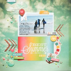 Best Summer Ever **Simple Stories DT** - Scrapbook.com - Mde with Simple Stories Good Day Sunshine collection.