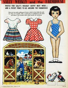 Sally Weekly cut-out doll, 1959