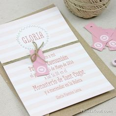 """Invitación comunión - """"RAYAS GIRL"""""""