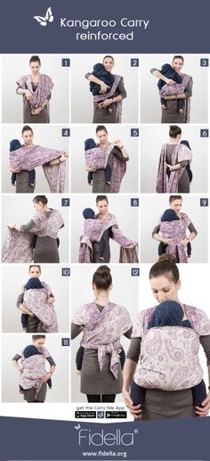24 Best Baby Wrap Tying Instructions Images On Pinterest Baby Wrap