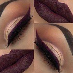 Lips and eyes mahogany