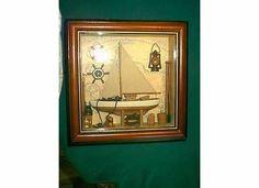 1 Masted Sloop Schooner SHIP Nautical Maritime Marine Wood Glass Shadow Box   eBay