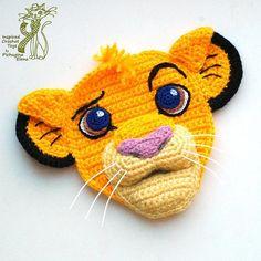 (4) Name: 'Crocheting : Simba (The Lion King). Applique