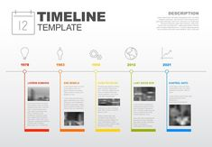 Infographic timeline template by Orson on @creativemarket