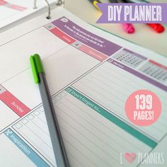2015 Modern Calendar and Planner Kit - Instant Download! 139 pages in PDF format ready to print at home!