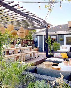 Outdoor Seating, Outdoor Rooms, Outdoor Living, Outdoor Decor, Halfway House, Covered Decks, Garden Living, Back Gardens, Backyard Patio