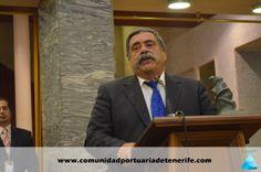 Don Pedro Rodríguez Zaragoza, Presidente de la Autoridad Portuaria de Santa Cruz de Tenerife, en su discurso de agradecimiento.