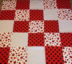 Lady bug baby quilt fringed Rag quilt kit 75 pre cut | Quilts ... : pre cut flannel rag quilt kits - Adamdwight.com