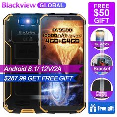 """2018 BLACKVIEW BV9500 10000mAh Dual Camera NFC Wireless charger 5.7""""18:9 Smartphone IP68 Waterproof 4G 64G N MT6763T Android 8.1  Price: 241.12 & FREE Shipping #computers #shopping #electronics #home #garden #LED #mobiles #rc #security #toys #bargain #coolstuff 