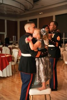Dancing with Daddy. This fills my heart with joy!  More great pictures of our precious Military Children at http://www.pinterest.com/militaryavenue/the-military-child/